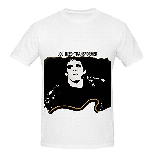 Lou Reed Transformer Soundtrack Mens Crew Neck Screen Printed T Shirt White Transformers Sheer T-shirt