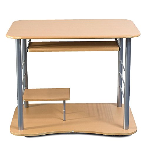 Rolling Computer Desk Laptop PC Table Workstation Study Home Office Furniture by totoshopdesk