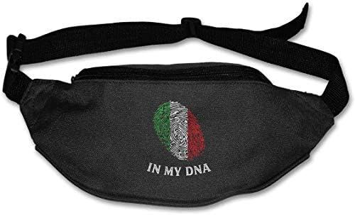 私のDNAイタリアのユニセックス屋外ファニーパックスポーツベルトバッグスポーツウエストパック