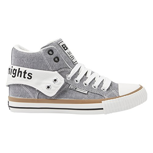 British Sneakers Knights Gris blanc Roco Femme Basses rPrxqE7aw