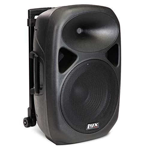LyxPro SPA-12BAT Battery Powered Active Speaker Portable PA System Built In EQ & Rechargeable Battery, Bluetooth, MP3, USB, SD, 1/4