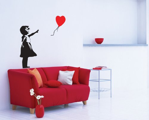 Banksy Balloon Girl Wall Sticker Decal 54x75
