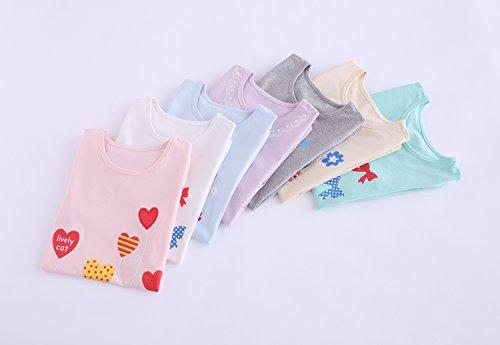 Abalaco Girls Kids Cotton Summer Cartoon Nightgown Sleepwear Dress Pretty Home Dress 3-12T (11-12 Years, Pink heart) by Abalaco (Image #5)
