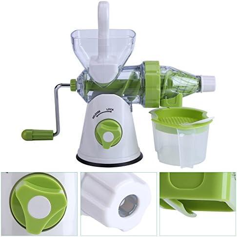 Oumefar Exprimidor Manual de plástico fácil de Limpiar, máquina exprimidora, exprimidor Manual, Cocina para el hogar
