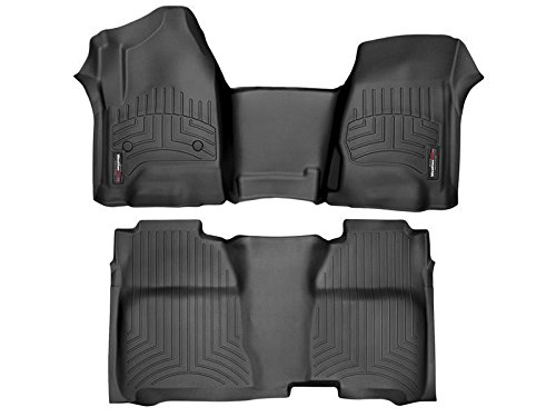 (WeatherTech (445431-445422 FloorLiner, Front/Rear, Black)