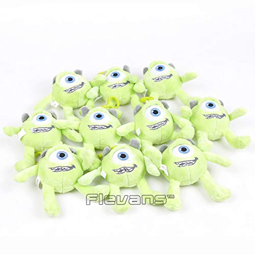 Amazon.com: GrandToyZone DOLL SERIES - 10pcs/Set / 9cm (3.5 inch) Mike Wazowski Plush Pendants Soft Stuffed Dolls - Movie Monsters Inc Toys: Toys & Games