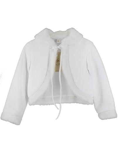 d504b541d462c Veste Mariage baptême Communion Enfant Fille Coton et Fourrure  Amazon.fr   Vêtements et accessoires