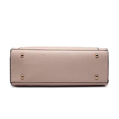 Faux Large Shoulder Tote Women Bags 1650 With Stylish Handbag Pocket Front Designer Leather Beige Miss Satchel For Lulu 8qtPSXxX