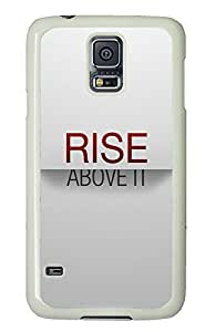 Samsung S5 cute case Life Quotes Rise PC White Custom Samsung Galaxy S5 Case Cover