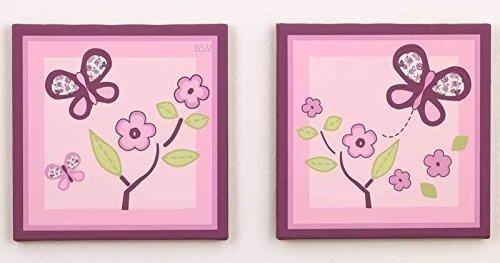 Sugar Plum Canvas Art - Set of 2 - Plum Sugar Kitchen