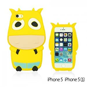 Cow Style 3D Soft Silicone For Ipod Touch 5 Case Cover - Yellow