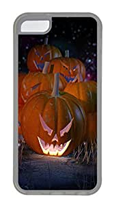 iPhone 5c Cases - Lovely Mobile Phone The Stars Hay Pumpkin Faces Rubber Bumper Protecting Shell