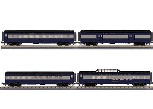 B&O 4 CAR 60' STREAMLINE SET - Set 60 Streamline Passenger
