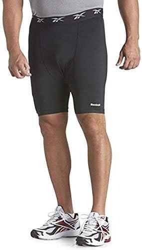 Reebok Big and Tall Bay Play Dry Base Layer Shorts Black