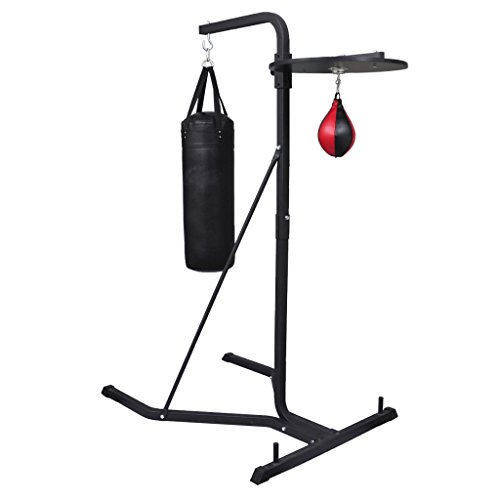 Daonanba Boxing Stand Complete with Steel Frame Punching Bag Speed Ball Platform by Daonanba