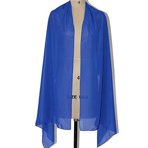 Lanbaodress Wedding Jacket Wraps Bolero Chiffon Women Cap Wrap Shrug For Evening Dresses Royal Blue