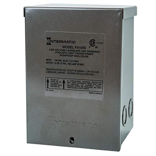 (Intermatic PX100S Pool Light 100-Watt Safety Transformer, Stainless Steel,)