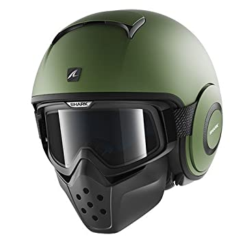 Shark Raw Casco Jet, Verde, M