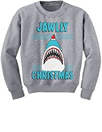 TeeStars - Jawlly Christmas Ugly Xmas Sweater Party Shark Youth Kids Sweatshirt