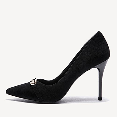 Travail Noir Femme 5cm 4 37 Mariage 5 Talons Chaussures Mat Femmes Party Mode Black EU De 8 Sexy Chaussures UK Nightclub Tribunal Hauts Yddv1Wx