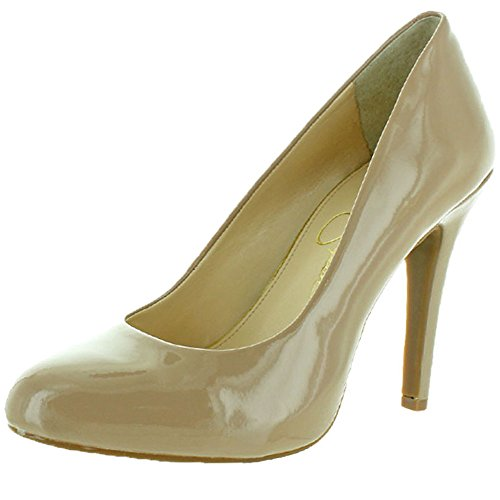 Jessica Simpson Women's Malia Dress Pump,Nude Patent,10 M US
