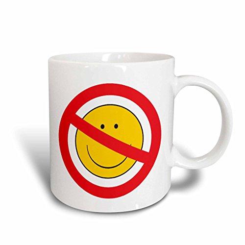 cing Spring Smiley Face Ceramic Mug, 11 oz, White ()