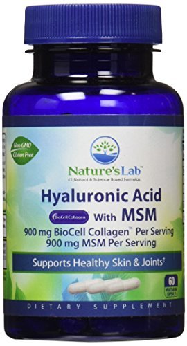 Nature's Lab Hyaluronic Acid with Biocell Collagen and MSM, 60 Count by Nature's Lab