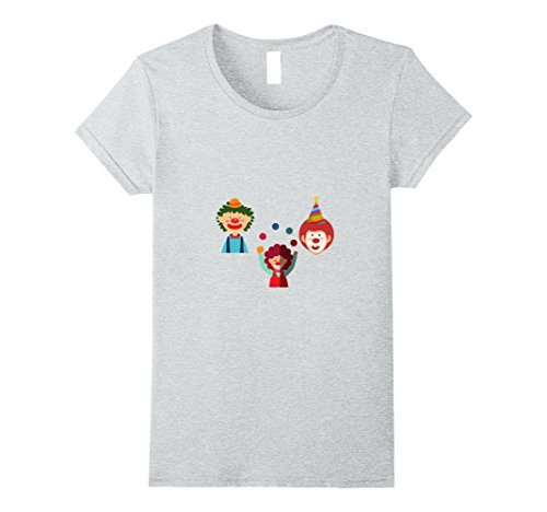 Womens Funny clown costume t-shirt Large Heather Grey