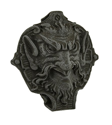 Zeckos Stone Wall Sculptures Horned Gothic Creature Decorative Distressed Cement Wall Hanging 6 X 6 X 2 Inches (Gargoyle Plaque)