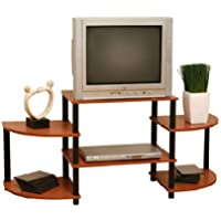 Momentum Furnishings Llc PBF-0290-303 Cherry Finish With Black Accents Entertainment Stand