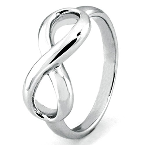 Sterling Silver Infinity Symbol Wedding Band Ring, Size 9 - Tiffany Knot Ring