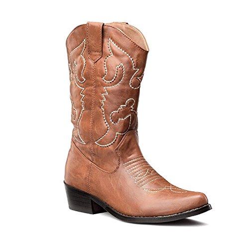 Lara's Womens Wedding Western Cowboy Boots Mid Calf Tan US 9.5 by Lara's
