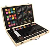 : Wooden Art & Crafts Supplies 82 Pc.drawing Set