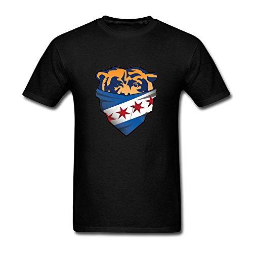 ZhiBo Bears Chicago Flag Bandana Zoom Customized T-shirt for Man Black - Mens Vouge