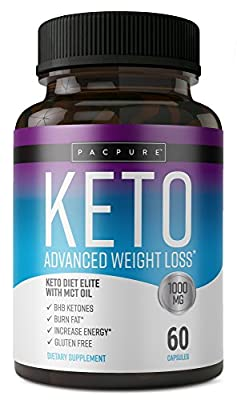 Keto Diet Elite - 1000mg Keto Advanced Weight Loss- Ketogenic Fat Burner- Burn Fat Instead of Carbs - Ketosis Supplement - 30 Day Supply