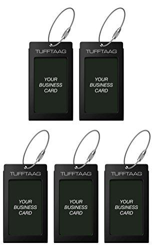Luggage Tags Business Card Holder TUFFTAAG Travel ID Bag Tag