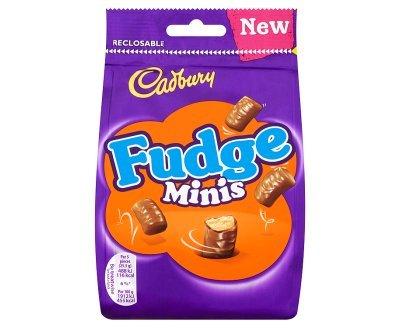 Cadbury Fudge Minis Chocolate Bag Original Cadbury Fudge Minis Imported From The UK England In A Sharing Resealable Bag Mini Fudge Bites Smothered In Cadbury Milk Chocolate Best Of British Chocolate