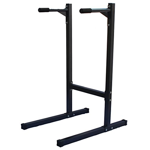 KLB Sport Heavy Duty Dipping station Dip Stand Parallel Bar Bicep Triceps Home Gym Dipping Station, 500lb Capability by KLB Sport