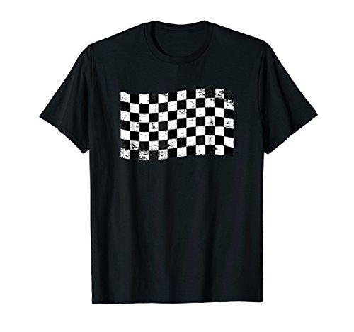 (Grand Prix Checkered Racing Flag Tee Men Women Kids Gift)