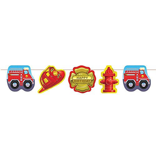 Creative Converting Firefighter Garland 3 Pack
