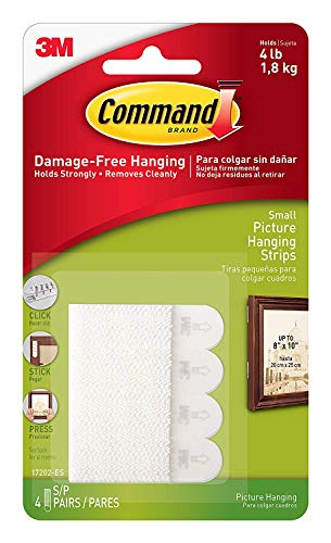 (Command 4 lb White Picture Hanging Strips, 9-packages, Indoor Use, Small (17202ES))