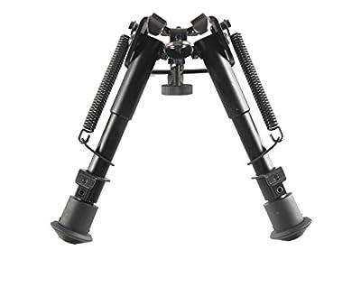 Klau Adjustable Height Spring Return Tactical/Sniper Profile Hunting Rifle Bipod Sling Swivel Mount