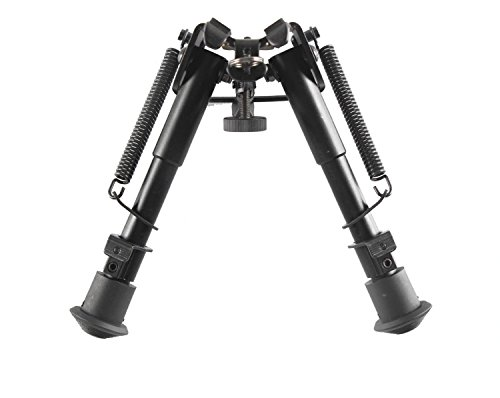 Rifle Bipod,Klau 6 to 9 Inch Adjustable Height Spring Return Tactical/Sniper Profile Sling Swivel Mount for Hunting