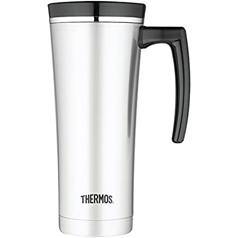 Thermos 16 Ounce Vacuum Insulated Travel Mug, Black (Travel Coffee Mug 16 Ounce)