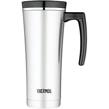 Thermos 16 Ounce Vacuum Insulated Travel Mug, Black