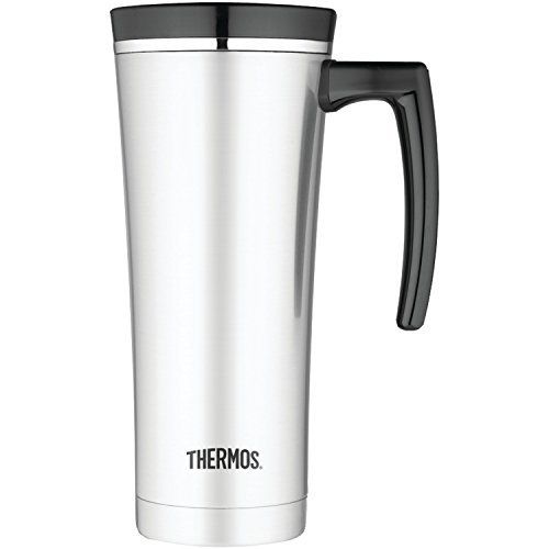 (Thermos 16 Ounce Vacuum Insulated Travel Mug, Black)