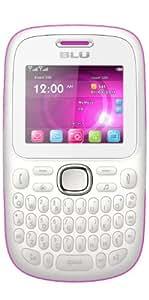 BLU Q170T Samba TV Unlocked Dual SIM Quad-Band GSM Phone (White/Pink)
