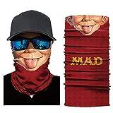 Motorcycle Mask Funny 3D Print UV Protection Balaclava Full Face Seamless Bandana Cycling Mask Zulmaliu (Multicolor A, 1PCS)