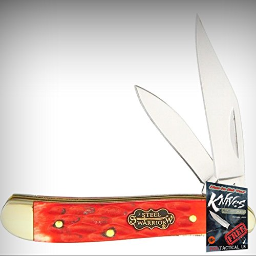Frost Cutlery SW-107RPB Red Pick Peanut Folding Limited Elite Knife w/Mirror Clip/Pen Blades + free eBook by ProTactical'US ()