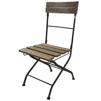 Silla plegable silla Interieur Exterieur (madera y hierro 42 ...
